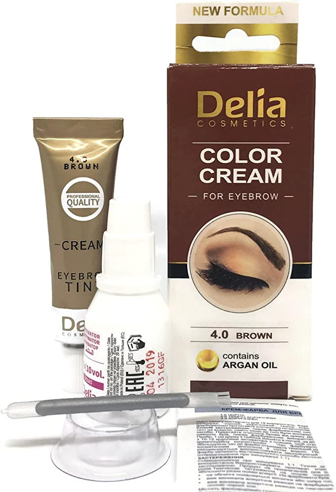 dyewimpern y profesionales de cejas, marrón, marrón oscuro, negro 15 ml