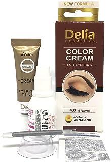 Tinte profesionales para cejas y pestañas profesionales, 15 ml Delia KIT Negro/Marrón/Marrón Oscuro (Marrón)