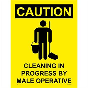 WS476 Warning Sign Caution Cleaning in Progress by A ...