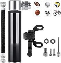 Mini Bomba De Bicicleta, Bomba de Mano Pequeña, 120 PSI - Mini Bomba de Aire Inflador, con Marco fijo, Tuerca de tornillo, Aguja de gas, Manguera, Valvulas, para Bicicletas de Montaña/Moto/Pelotas