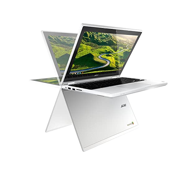 """Acer Newest 11.6"""" Convertible 2-in-1 HD IPS Touchscreen Chromebook with Intel Quad-Core Celeron N3150 1.6GHz, 4GB RAM, 32GB SSD, 802.11AC, Bluetooth, Webcam, HDMI, USB 3.0, 10-Hour Battery"""