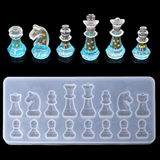 UG LAND INDIA International Chess Shape Silicone Mold - 3D Chess Clear Silicone Mold for Making Polymer Clay, Crafting, Re...