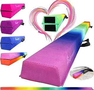پرتو تعادل ژیمناستیک تاشو PreGymnastic 8FT / 9FT / 9.5FT - پوشش جیر فوق العاده محکم با برچسب درخشان و کیف حمل برای خانه / مدرسه / باشگاه / سفر