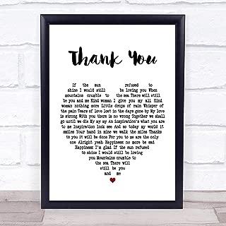 123 BiiUYOO Led Zeppelin Thank You Heart Song Lyric Print 18