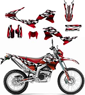 Yamaha WR250R or WR250X Graphics Decal Kit 2007-2014 by Allmotorgraphics NO2500 Red