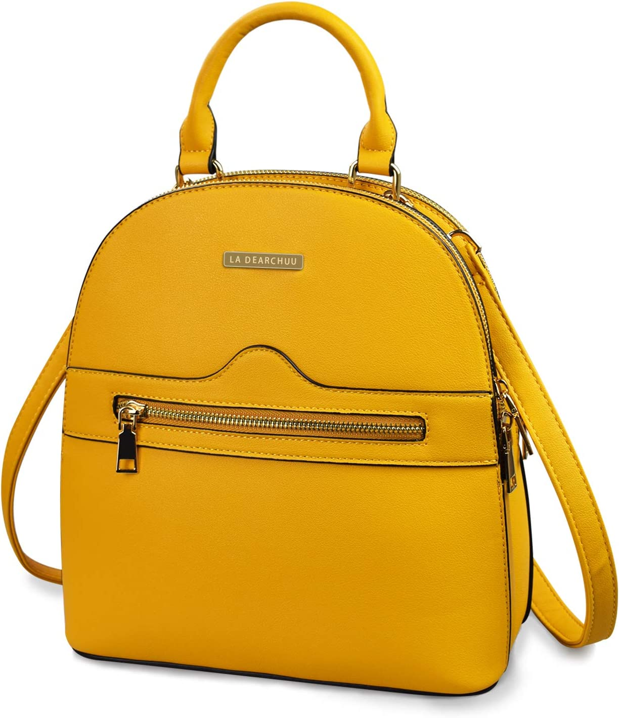 Backpack Purse for Women Leather Backpack, Double Zipper Casual