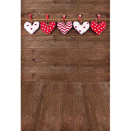10x10ft Love Hearts Photography Backdrop Wedding Wood Board Floor Studio UK