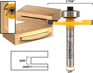 Yonico 14183q #10 Biscuit Joint Slot Cutter Router Bit 1/4-Inch Shank