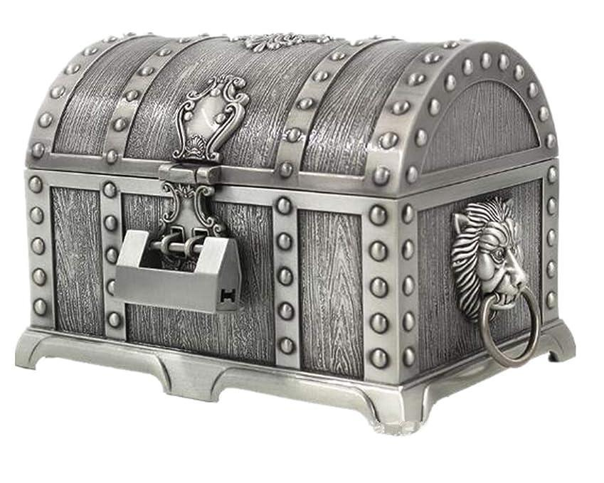 気づかないハンバーガー理想的にはジュエリーボックス ドラクエ装飾 宝箱風 アンティーク小物入れ 鍵付