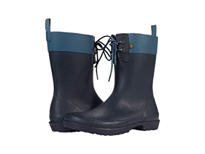 Bogs Flora 2-Eye Boot (Blue Denim) Women