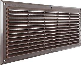 De ar5023 m-y ventilatierooster kunststof rechthoekig superimpose, bruin, 500 x 227 mm