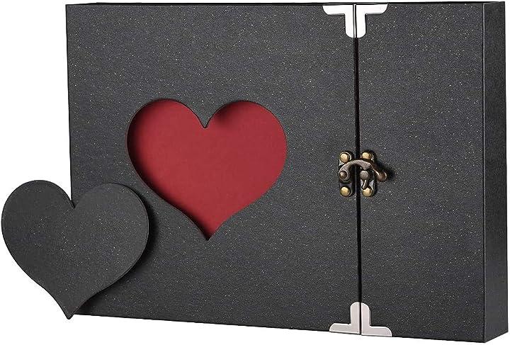 San valentino firbon album fotografico, scrapbook, sticker diario creativo con incisione a forma di cuore AM171011