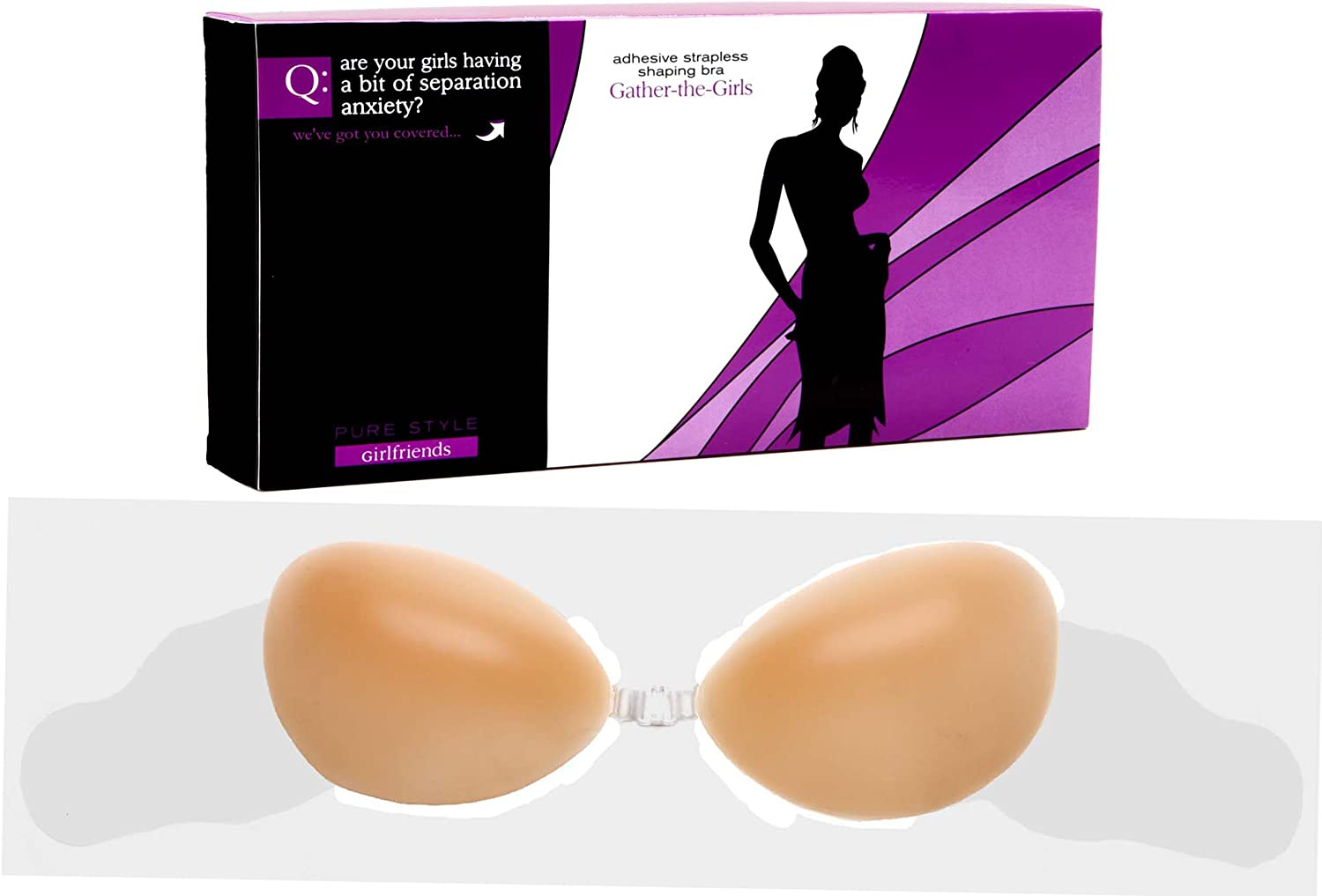 Pure Style Girlfriends  Nu GathertheGirls Adhesive Silicone Shaping Bra