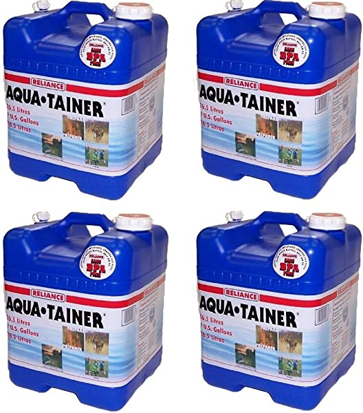 Reliance Products Aqua Tainer 7 Gallon Rigid Water Container 4 Pack 7 Gallon