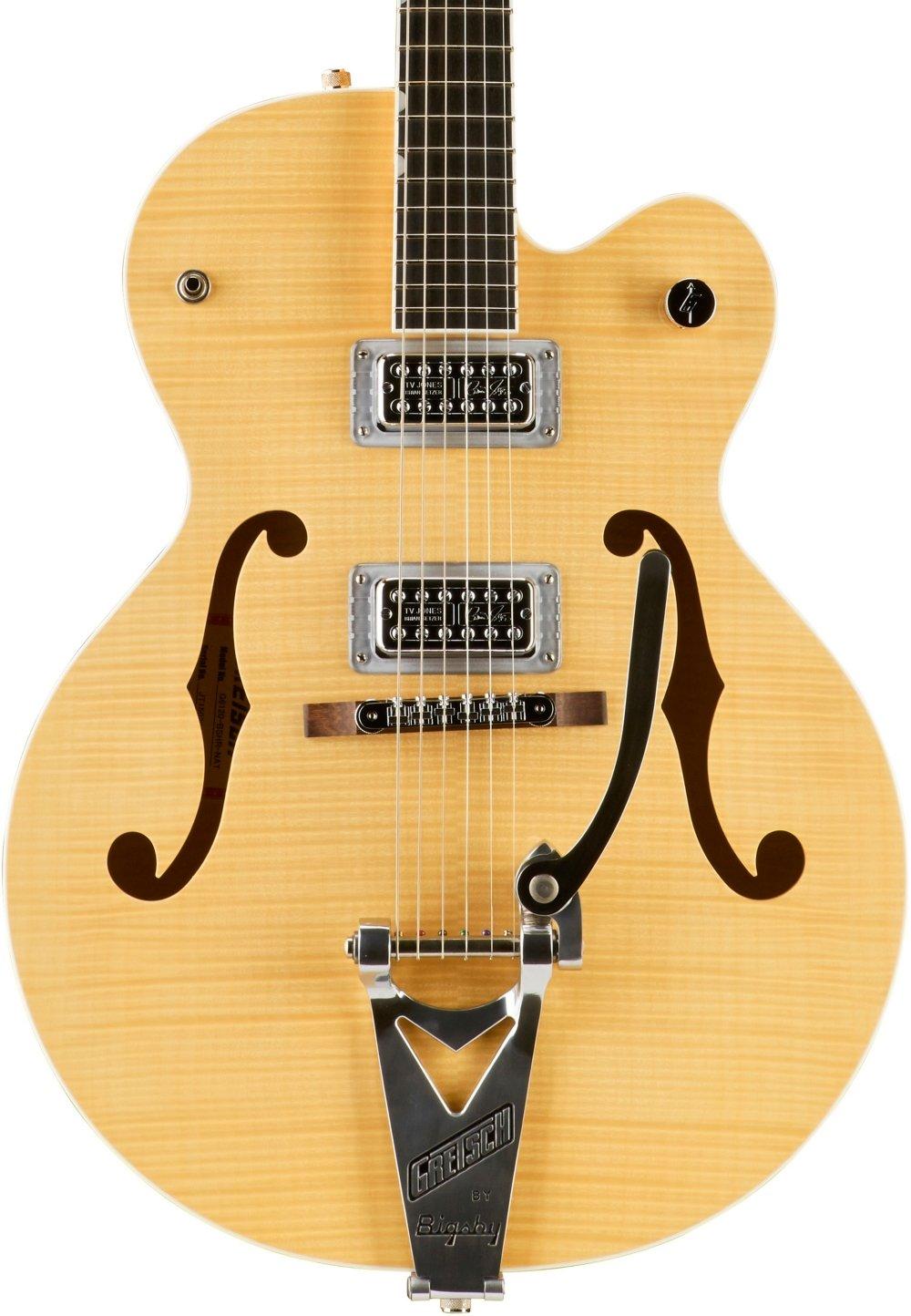 Cheap Gretsch Guitars G6120SH Brian Setzer Hot Rod Flame Maple Body Semi-Hollow Electric Guitar Blonde Black Friday & Cyber Monday 2019