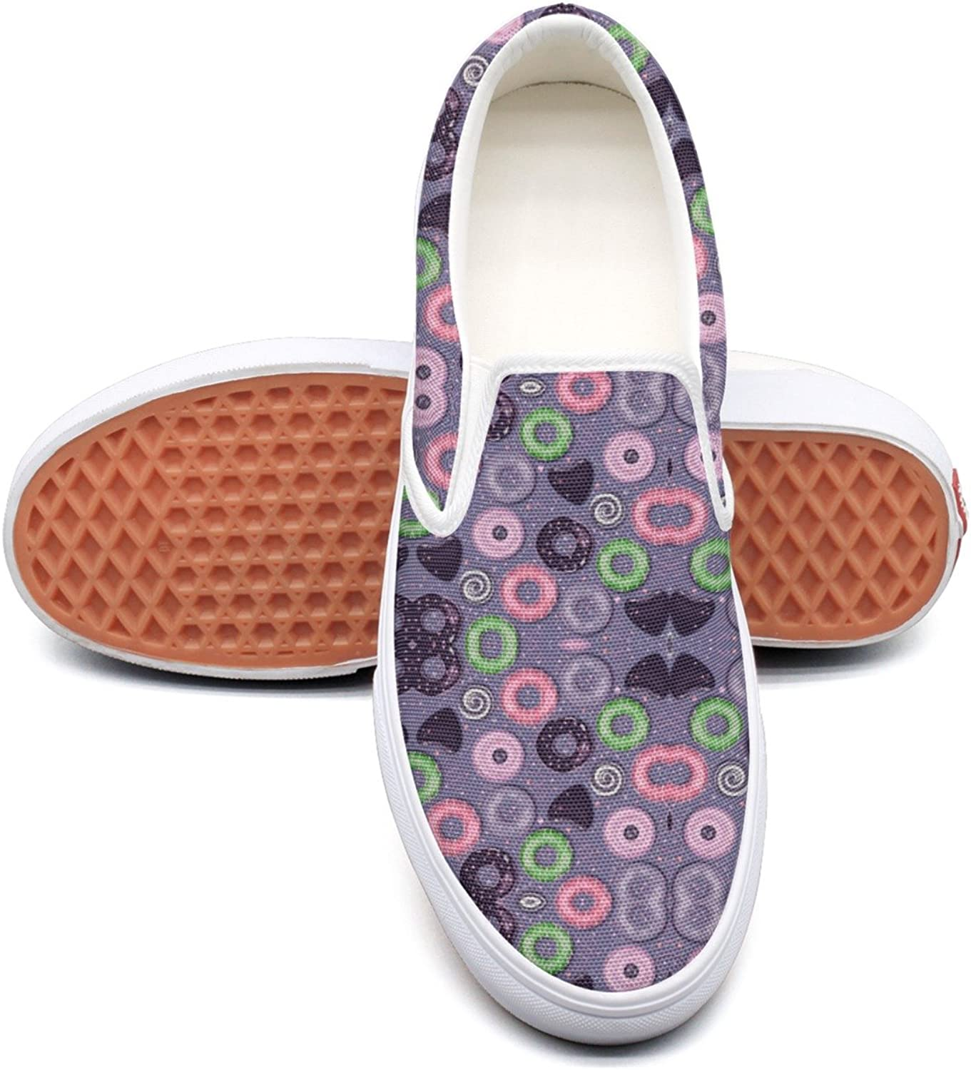 Lalige Beautiful Donut Women's Printed Graphics Canvas Slip-on Walking shoes