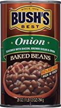 BUSH'S BEST Onion Baked Beans, 28 Ounce Can (Pack of 12), Canned Beans, Baked Beans..