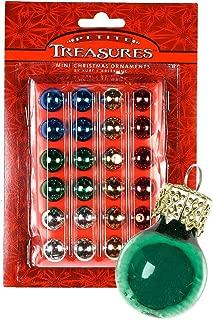 24ct Petite Treasures Shiny Multi-Color Mini Glass Ball Christmas Ornaments .6