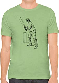 British Cricket Batter Cotton Crewneck Unisex Mens Fitted T-Shirt