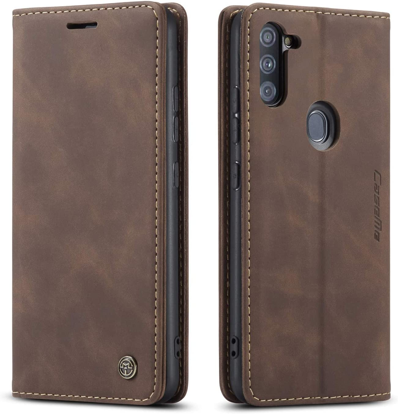 Samsung Galaxy A11 Case,Galaxy A11 Wallet Case with Card Holder,Magnetic Stand Leather Flip Case Cover for Samsung Galaxy A11(2020) 6.4 inch (Coffee)