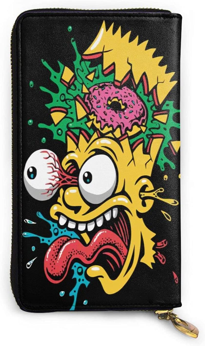 The outlet Simpsons Wallet Leather Year-end gift Portable Credit Wallets Card Zipper