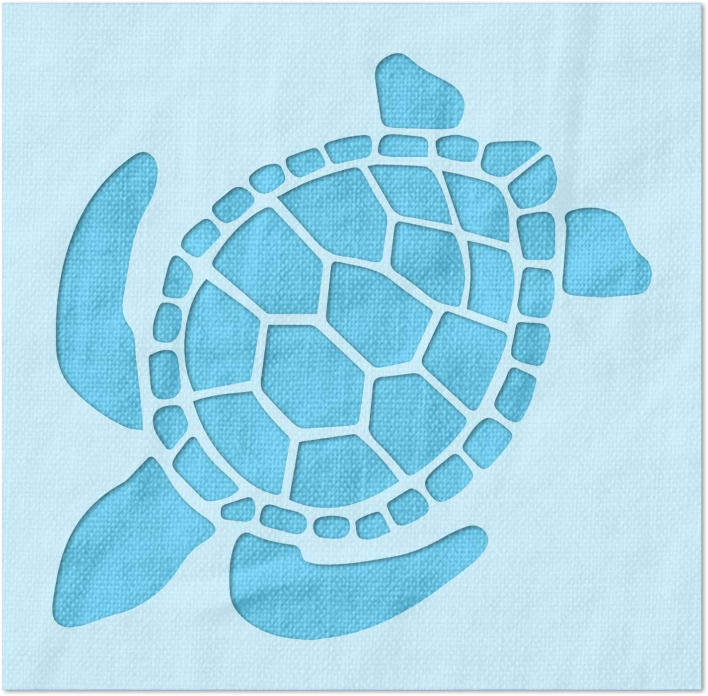 Max 78% OFF Stencil Stop Sea Turtle - Reusable DIY Sale Projects Pai for