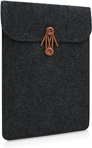 Buruis 12 Inch Laptop Sleeve for MacBook 12 and MacBook Air 11 Inches, Felt Tablet Notebook Bag, Slim Envelope Case (Black)