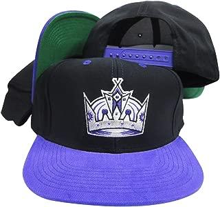 Los Angeles Kings Black/Purple Crown Adjustable Vintage Snapback Cap