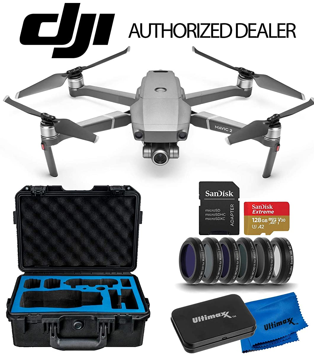 DJI 2019 Mavic 2 Zoom 2 Drone Quadcopter with 24-48mm Optical Zoom Camera Premium Essentials Travel Kit