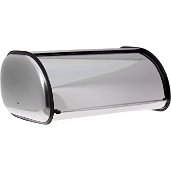 Home-it Stainless Steel Bread Box for kitchen, bread bin, bread storage Bread holder 16.5x10x8