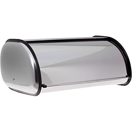 Home-it Stainless Steel Bread Box for kitchen, bread bin, bread storage Bread holder 16.5x10x8