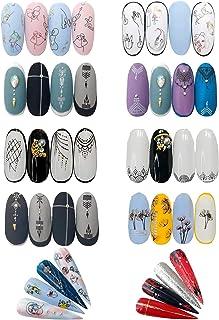 10 Sheets Nail Art Stickers Water Color Design Series Nail Decals, for Toenails Fingernail Charm Decoration Applique Acces...
