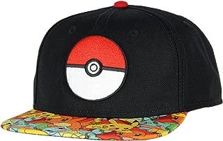 Bioworld Pokemon Pokeball Youth Snapback Hat Cap
