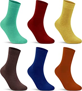 L&K Pack de 6 Calcetines Socks para mujer algodón unisex invierno 92296