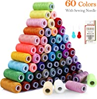 CUGBO Sewing Thread Assortment Coil 24 Colors All Purpose Polyester Thread Spools Kits for Hand /& Sewing Machine Embroidery 800 Yard Each