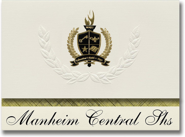 Signature Ankündigungen Manheim Central SHS (Manheim, PA) Graduation Ankündigungen, Presidential Stil, Elite Paket 25 Stück mit Gold & Schwarz Metallic Folie Dichtung B078VDML92   | Wir haben von unseren Kunden Lob erhalten.