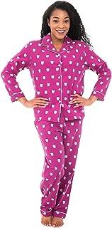 Alexander Del Rossa Women's Warm Flannel Pajama Set, Long Novelty Button Down Cotton Pjs