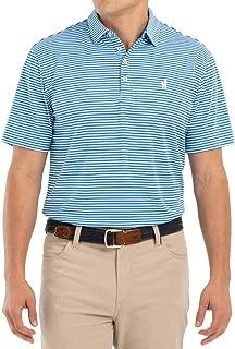 johnnie-O 2018 Bunker PREP-Formance Striped Mens Polo Golf Shirt
