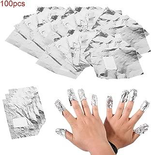 100pcs Aluminium Foil Nail Art Soak Off Acrylic Gel Polish Nail Wraps Remover Nail Gel Cleaner Remover Makeup Tool