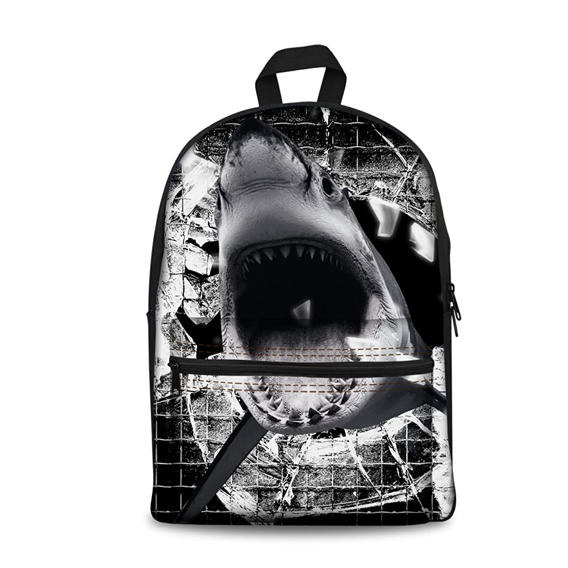 Bigcardesigns Canvas Shark Bookbag Backpack Schoolbag Boys Girls