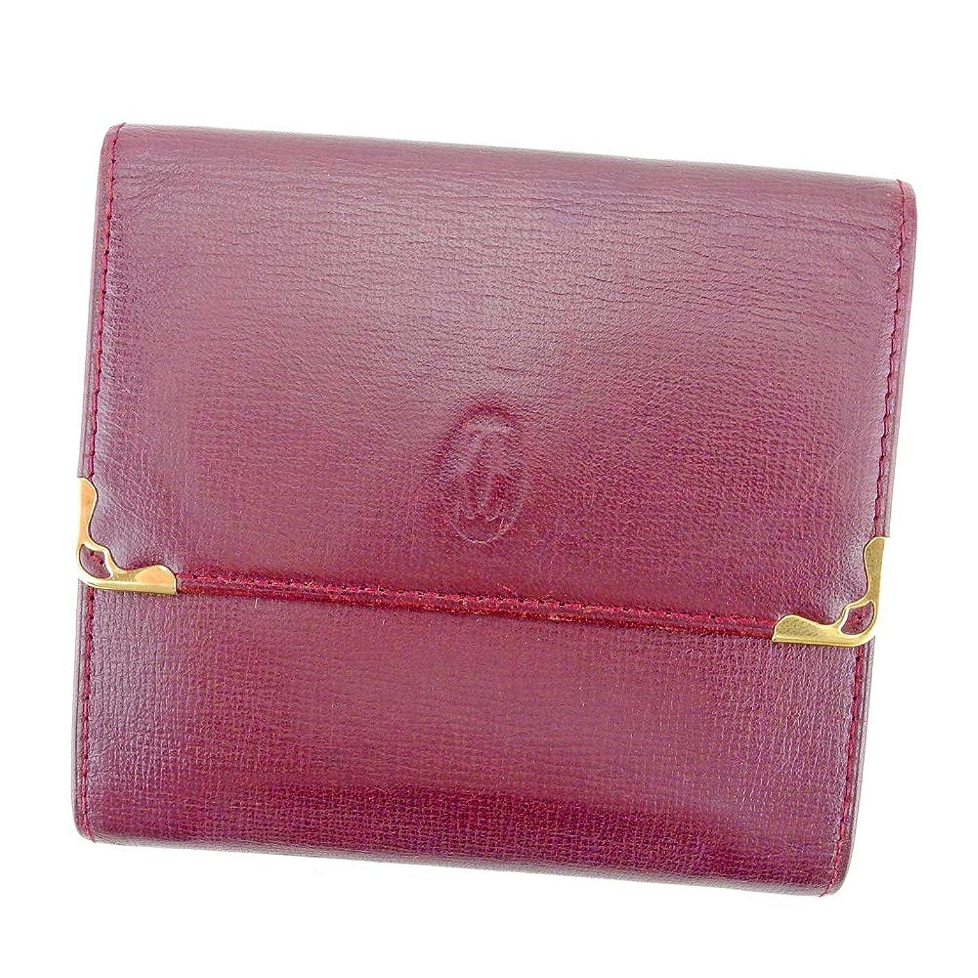 条件付き強大な続編カルティエ Cartier Wホック 財布 二つ折り 財布 レディース メンズ マストライン L2749