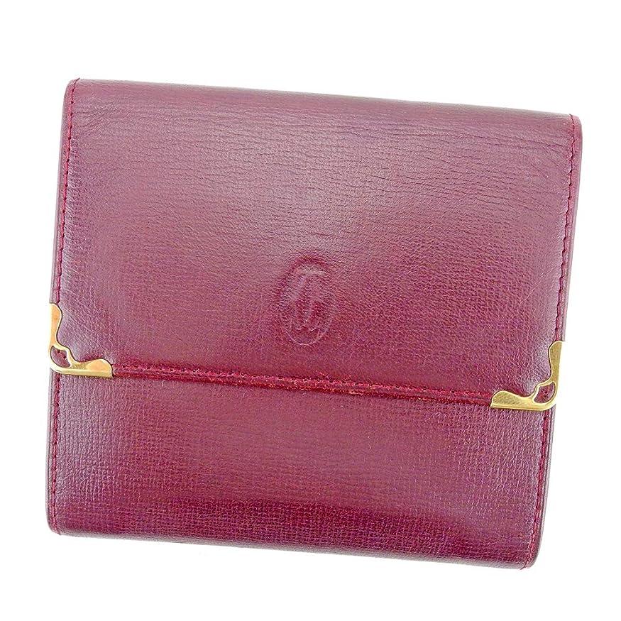 鼓舞する開始詩人カルティエ Cartier Wホック 財布 二つ折り 財布 レディース メンズ マストライン L2749