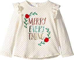 Christmas Merry Everything Long Sleeve Ruffle T-Shirt (Infant/Toddler)