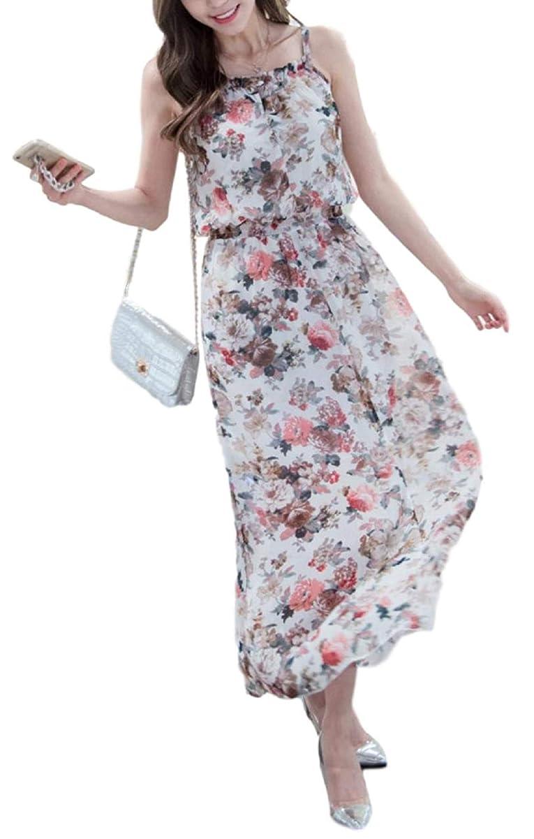 整然とした着るプラットフォーム[アルトコロニー] オフショル ワンピース 花柄 透け感 ロング丈 マキシ丈 リゾート レトロ ユッタリ M ~ XL レディース