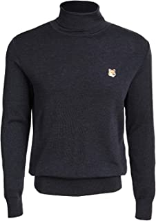 Maison Kitsune Men's Merino Turtleneck with Fox Patch