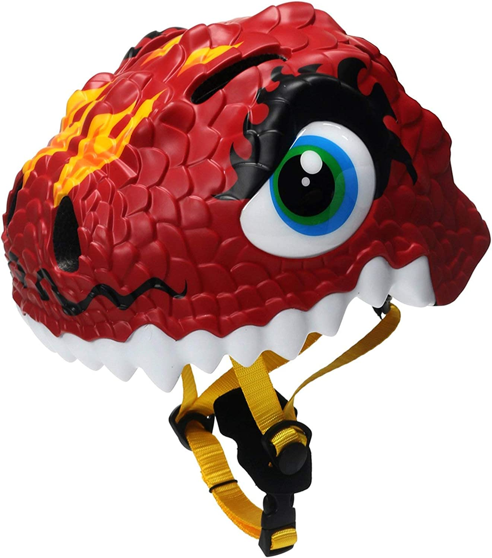 Aiyoyo 3D Design Dinosaur Toddler Multi Sports Helmet 3D Cartoon Kids Bike Helmets for Girls&Boys (Adjustable:5462CM)