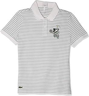 Lacoste Women's Short Sleeve Slim FIT Disney Polo, White/Green, 4