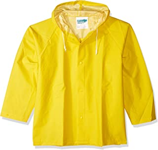 Tingley J53107.LG .35mm PVC/Polyester Storm Fly Front Jacket with Attached Hood, Large, Yellow