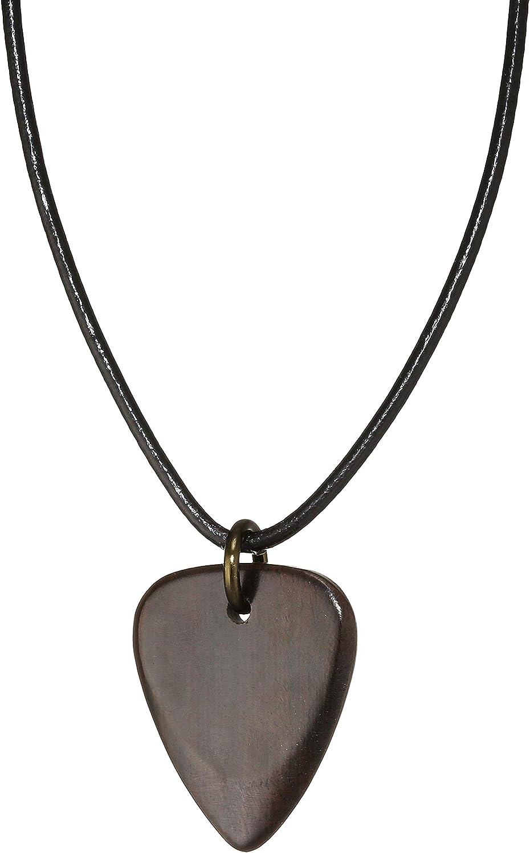 Timber Tones - Collar de piel con púa (61 cm, madera de ébano)