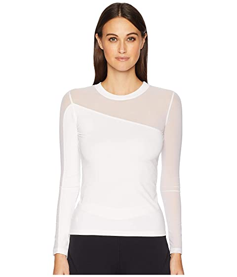 Cushnie Long Sleeved Crew Neck Top with Mesh Panels